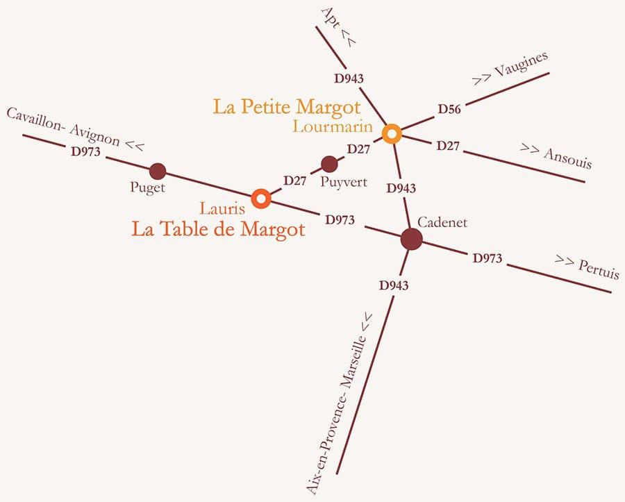 Carte des villages